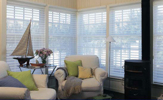 Benefits of silhouette window shades arlington for Hunter douglas motorized blinds cost