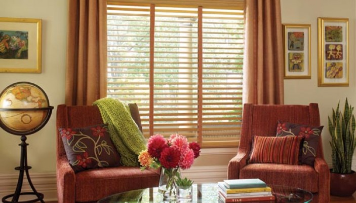 Parkland Classic wood blinds with Cordlock