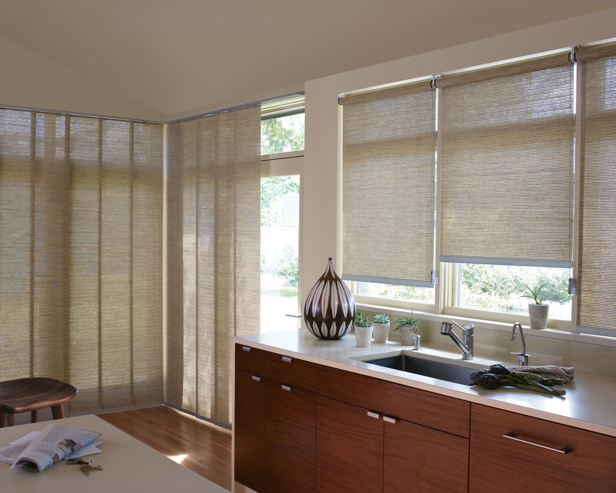 Kitchen Woven Wood Shades Value Blinds Heirloom Draperies
