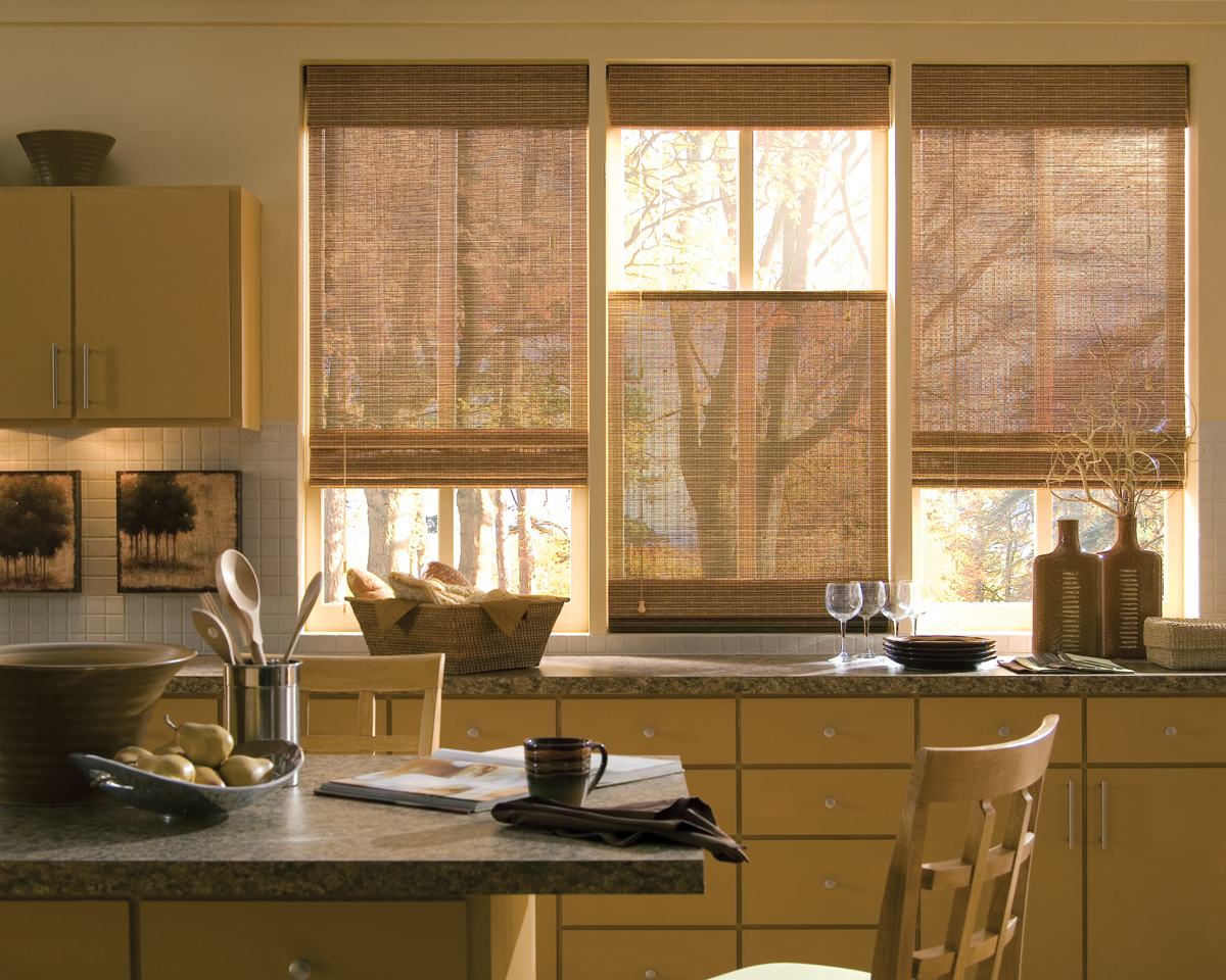 Natural Textures Of Woven Woods Shades Are One Of This Yearu0027s Interior Design  Trends.