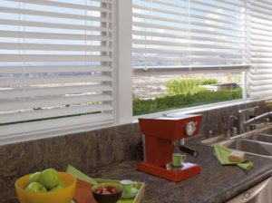 Everwood® Alternative Wood Blinds in the Kitchen